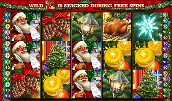 Wilds symbols at deck the halls slot