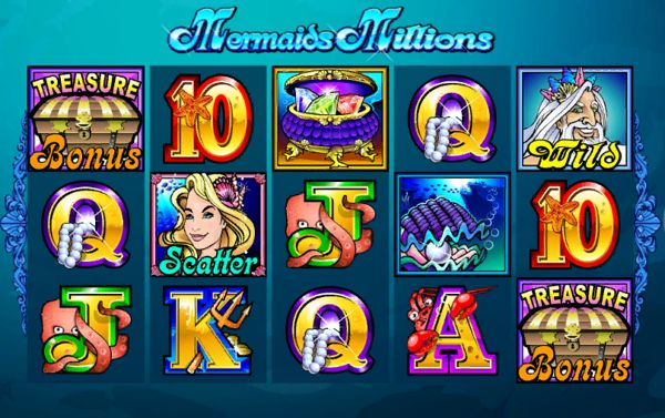 Scatters at mermaids millions slot
